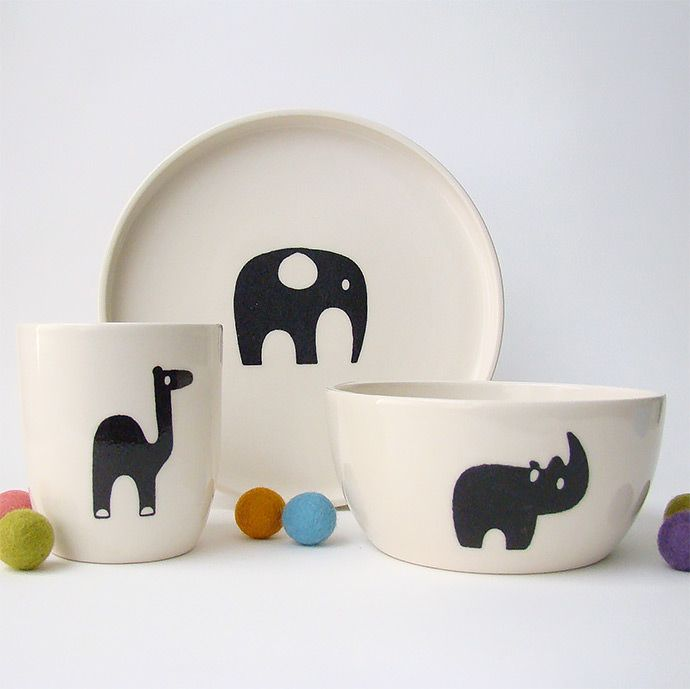 Handmade Safari Animal Ceramics For Kids via Great.ly