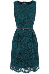 Oasis Lace Lily Lantern Dress in Blue (green) - Lyst