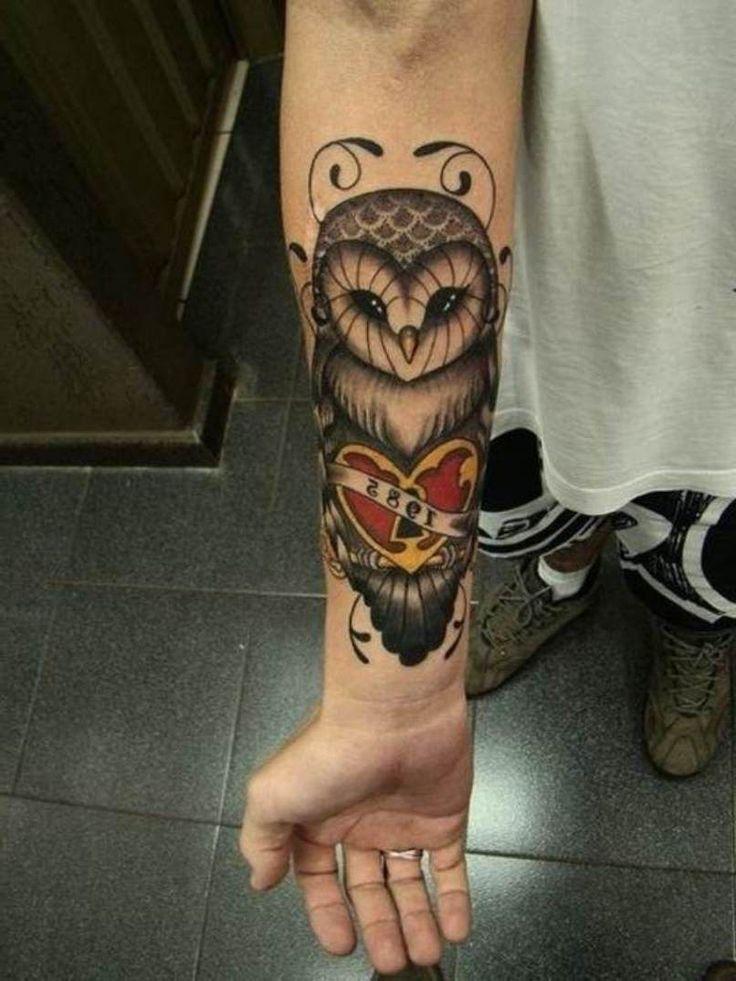 owl tattoo sleeve | Owl Tattoos Half Sleeve