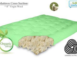 100% Organic Wool 8″ | The Futon Store