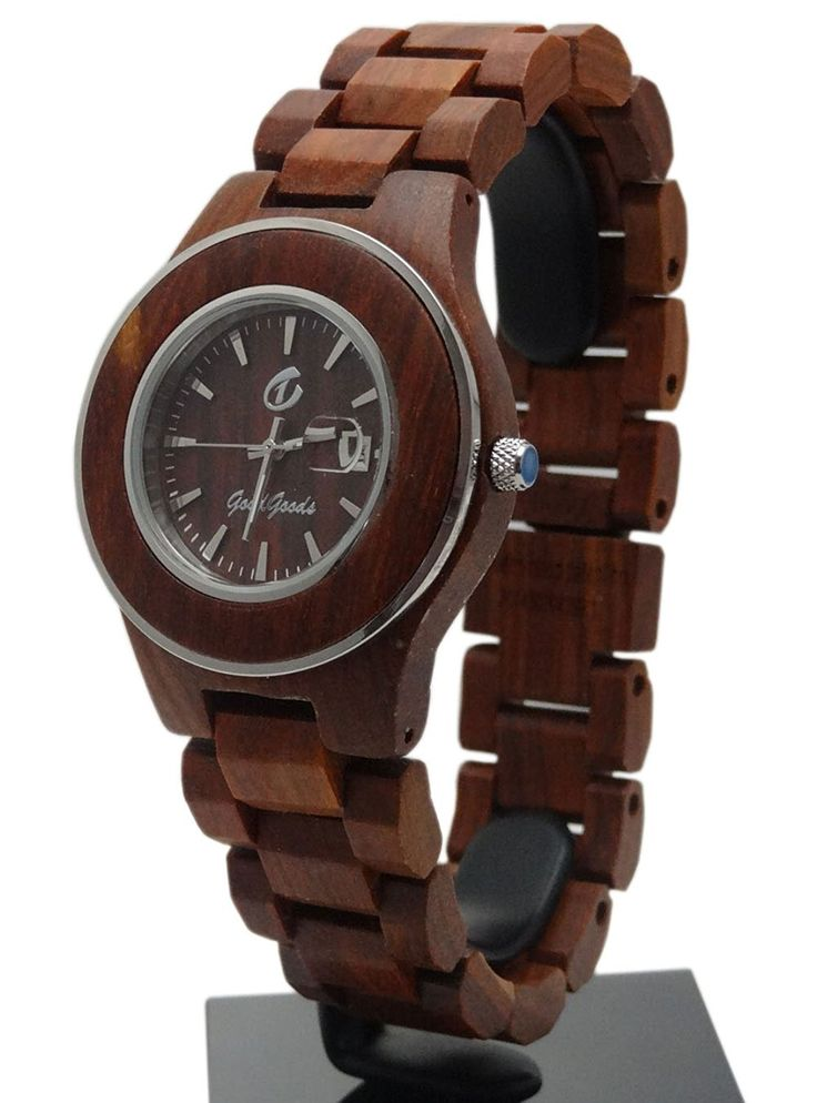 Handmade Wooden Watch Made with Natural Wood in Red - HGW-181 >>> Learn more by visiting the image link. (This is an Amazon Affiliate link and I receive a commission for the sales)