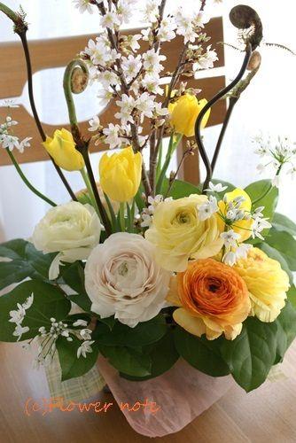 『【今日の贈花】立春に独立されるお友達へ』http://ameblo.jp/flower-note/entry-11482540523.html