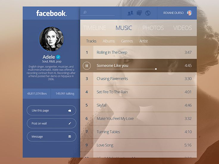 Facebook Artist Page Concept by Bluroon