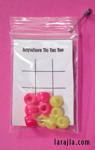 Tic Tac Toe in a Bag SWAP / GnG — A game and a SWAP all in one. Pull the markers out of the bag and play. Anytime. Anywhere.