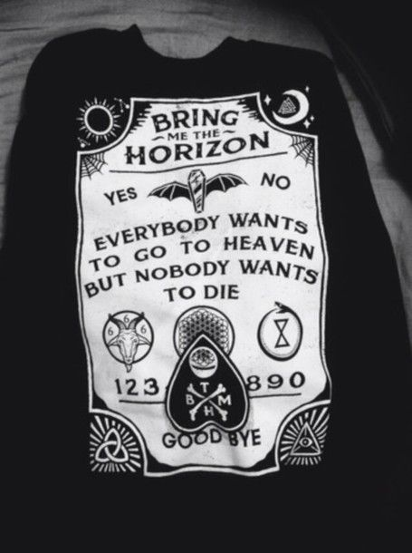 Bring Me The Horizon Merch | shirt bring me the horizon  awesome band merch ouija board ...