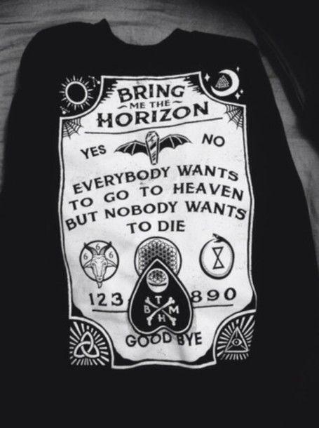 Bring Me The Horizon Merch | shirt bring me the horizon  awesome band merch ouija board ...