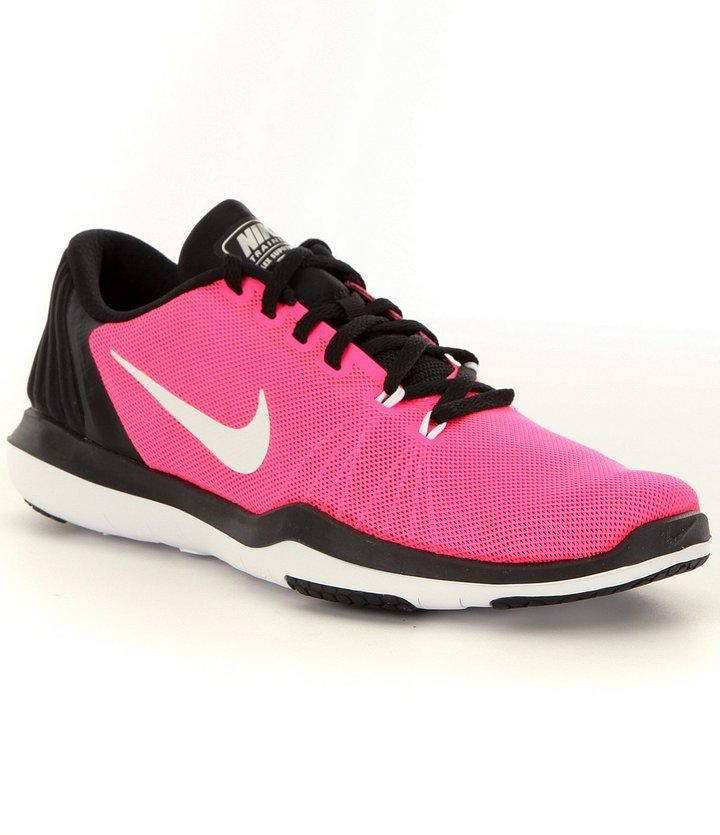 Nike Girls' Flex Supreme TR Mesh Lace-Up Training Shoes