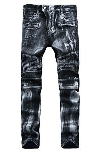 5f0e05ee2438 TBMPOY Men s Slim Fit Distressed Straight Ripped Denim Jeans  jeans   mensjeans  fashion  pants  apparel