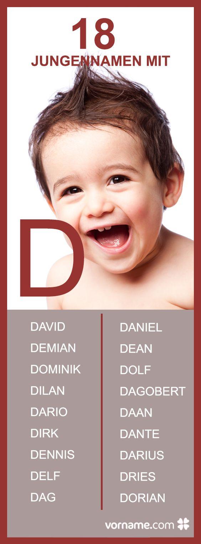 Dir gefallen Vornamen, die mit einem D beginnen? Hier findest Du eine ausführliche Liste sowie die Herkunft und Bedeutung der einzelnen Namen!