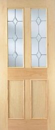 Radiata Pine Malton Glazed Internal Door