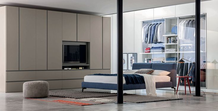 Gola with TV mounting panel, Wardrobes | Novamobili