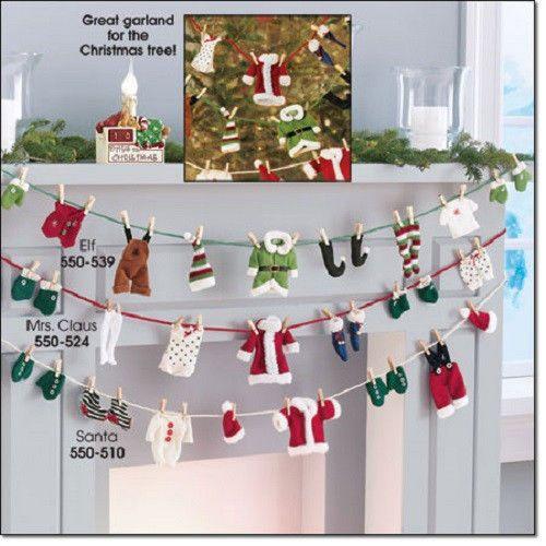 Avon Santa Claus Clothesline Christmas Garland New SEALED | eBay