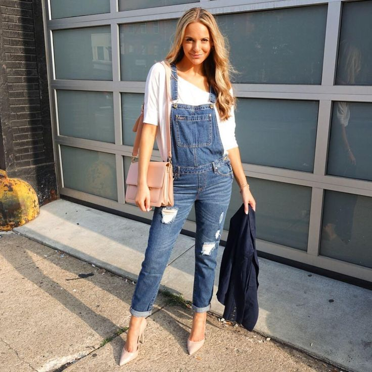 @jackiemiranne is chic in our long overalls!