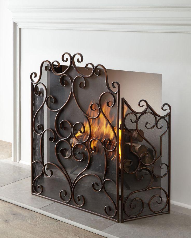 Fireplace Design metal fireplace screen : 21 best *Fireplace & Wood Stove Accessories > Fireplace Screens ...