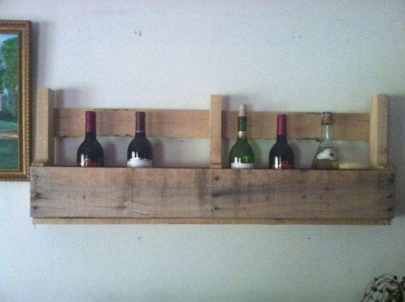 Primitive Country Wine Rack Pallet Wine Rack by RusticKnacks