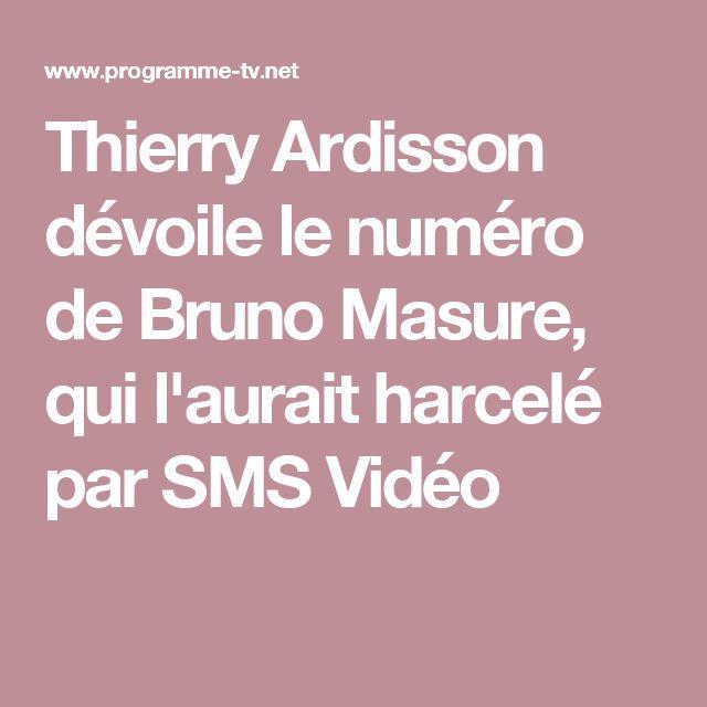 Thierry Ardisson dévoile le numéro de Bruno Masure, qui l'aurait harcelé par SMS Vidéo