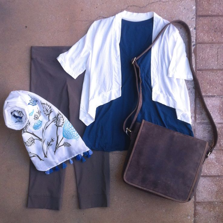 Brilliant for travel - layer up with shape and colour. Saints & Lovers capris, flared tank and cotton blend shrug. Tie it all together with rustic Leather Cargo Sherin bag & Violet Hartley scarf