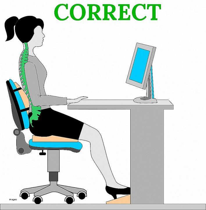 desk chair good posture white office chairs for diy stand up simple home