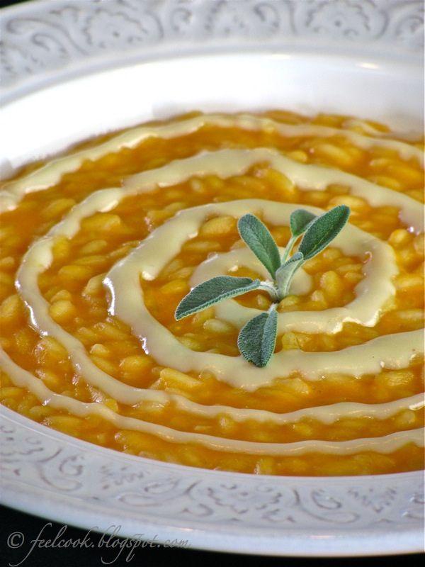 Risotto alla zucca con toma d'alpeggio / Pumpkin risotto with alpine toma