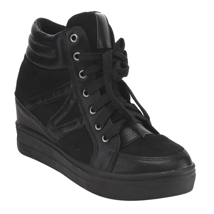 Angelina FG46 Women's Up High-top Padded Collar Platform Sneakers