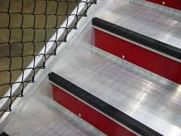 Use of contemporary styling and colours for contrasting tread edges