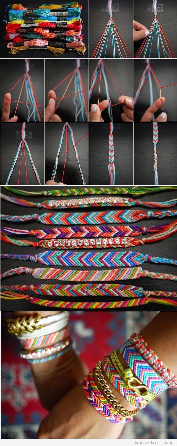 Tuto bracelet brésilien motif V