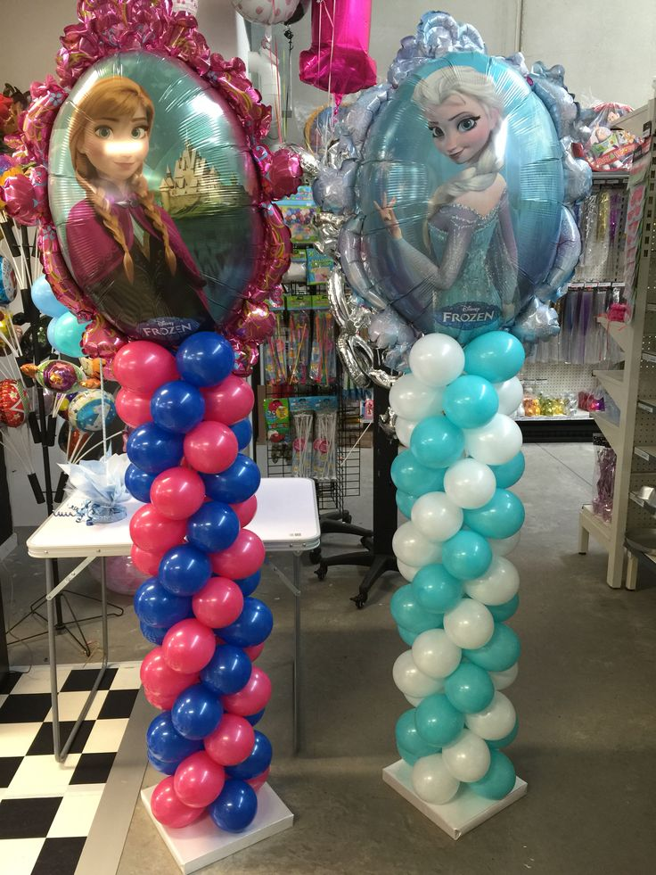 Frozen balloon decorations.