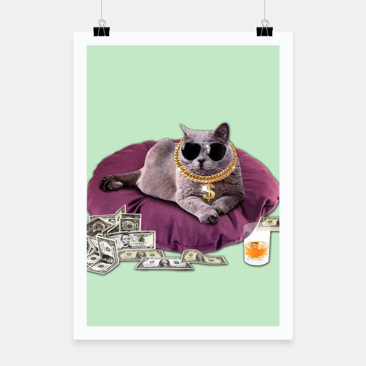GANGSTA CAT Poster, Live Heroes