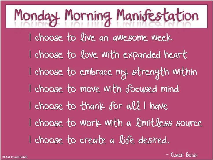 welcome to a brand new week my friends let s start today