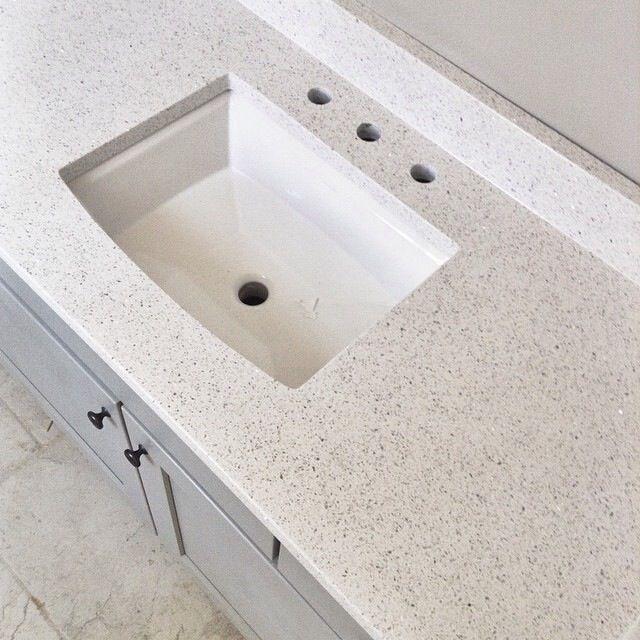 Stellar Snow Quartz Countertop Home Depot Bathroom Redecorate Pintere