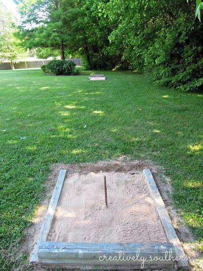 horseshoe pit backyard games outdoor games backyard ideas outdoor