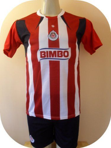 "CHIVAS GUADALAJARA SOCCER KIDS SETS JERSEY & SHORT SIZE 8 .NEW by MERKUR. $19.95. GREAT QUALITY. NEW. JERSEY & SHORT. SOCCER. NEW CHIVAS DE GUADALAJARA SOCCER KIDS SET size 8  A MUST HAVE FOR A REAL SOCCER FAN!   BRAND NEW IN BAG   SIZE 8 FOR 5-6 YEARS 15"" ARMPIT TO ARMPIT AND 19"" NECK TO BOTTOM.    GORGEOUS SET.EMBROIDERY CHIVAS LOGO.  100% POLYESTER.GREAT QUALITY.  FAST SHIPPING VIA USPS 2-4 WORKING DAYS ANYWHERE IN USA."
