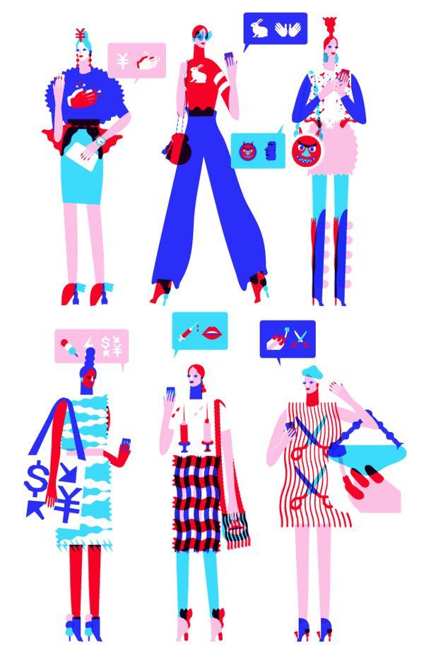 Emoji Fashion by John Lisle, via Behance