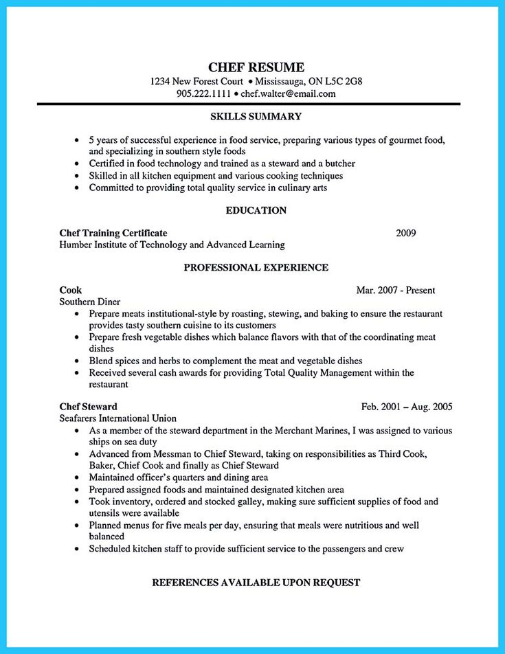 awesome Excellent Culinary Resume Samples to Help You Approved, Check more at http://snefci.org/excellent-culinary-resume-samples-help-approved