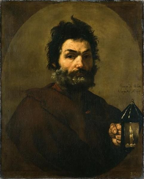 Jusepe de Ribera Diogenes Searching for an Honest Man (1637) Gemäldegalerie Alte Meister, Dresden