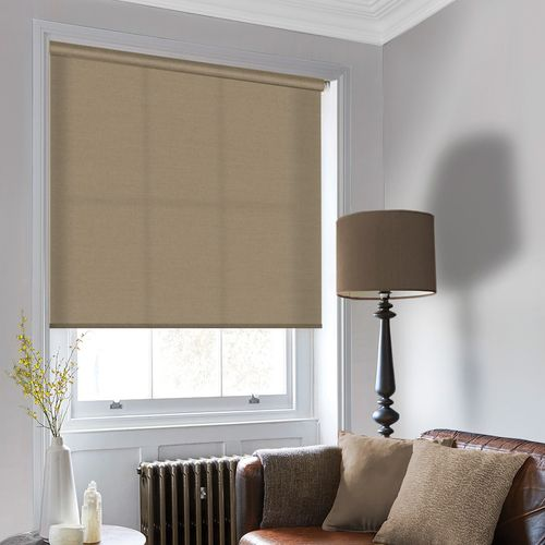 This beautiful stylish roller blind comes in a light natural brown tint and will be bespoke to your specifications