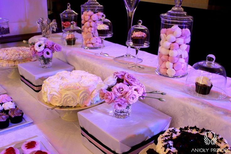 10. Mad Men's Wedding,Sweet table / Wesele w stylu Mad Men,Słodki stół,Anioły Przyjęć