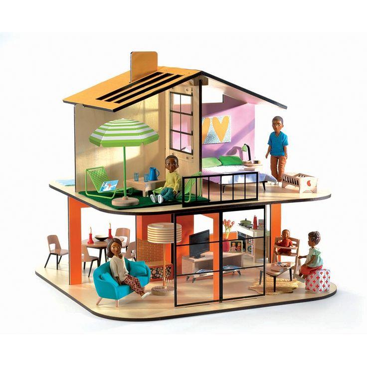 Opis produktu: Zabawka dla dziewczynek od 4 lat: domek dla lalek kolorowy dom.Uwaga: cena dotyczy samego domku bez mebelków i lalek, meble i lalki są sprzedawane osobno.