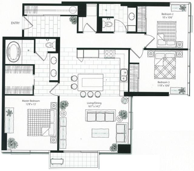 Best 25 Condo Floor Plans Ideas On Pinterest 2 Bedroom