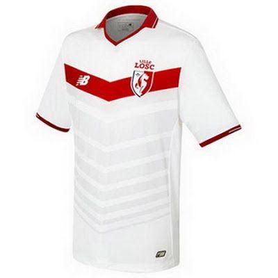 camisetas de futbol online 2018: Camiseta Lille OSC Primera  2017 baratas