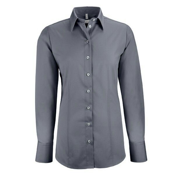Fleur Blouse/shirt for  woman, black and grey color. Made from 62% cotton /35% polyester/3% elastan. Price € 31,50