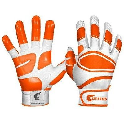 cutters #gloves men's large orange & #white power control #baseball batting glov,  View more on the LINK: http://www.zeppy.io/product/gb/2/281660225009/