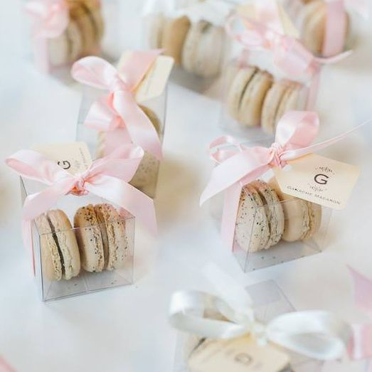 Macaron Wedding Favours with Earl Grey and Jasmine London