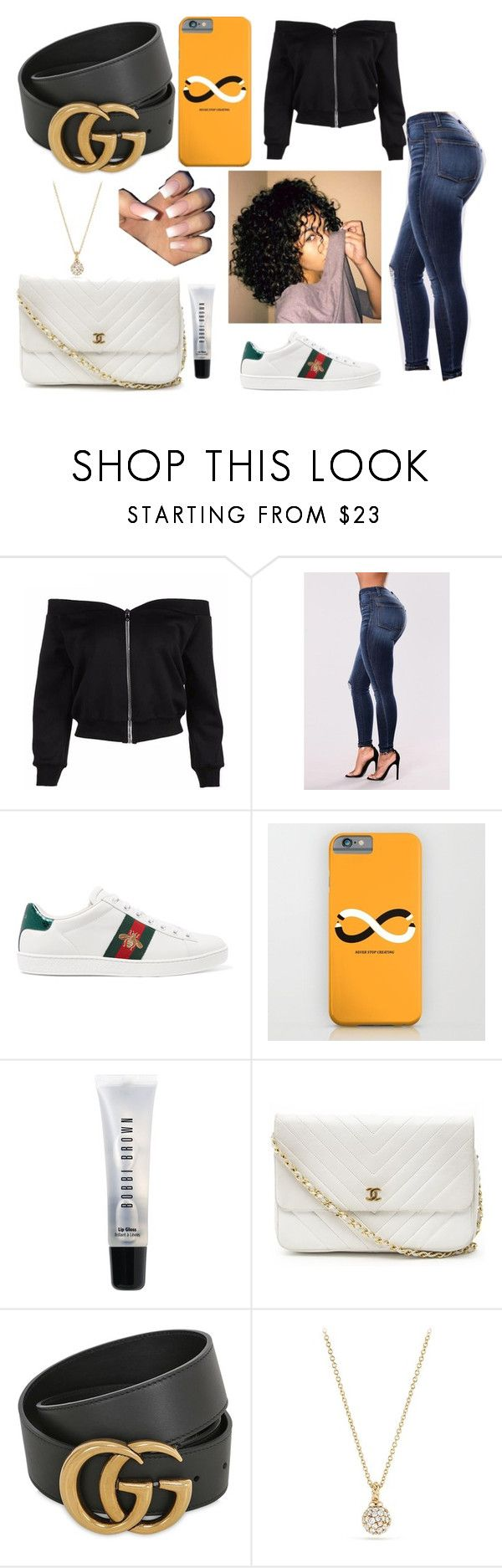 """""""Untitled #148"""" by bvbydest on Polyvore featuring Gucci, Bobbi Brown Cosmetics, Chanel and David Yurman"""