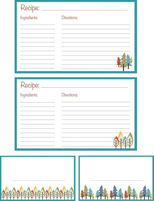 The 25+ best Printable recipe cards ideas on Pinterest Recipe - free recipe card templates for microsoft word
