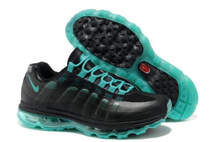 Nike Air Max 95 BB Running Schoenen Zwart/Nieuwe Groene Dames,HOT SALE!
