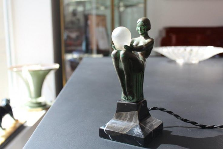 """Rare figural female nude, known as """"Songe Lumineux"""", signed: Max Le Verrier 