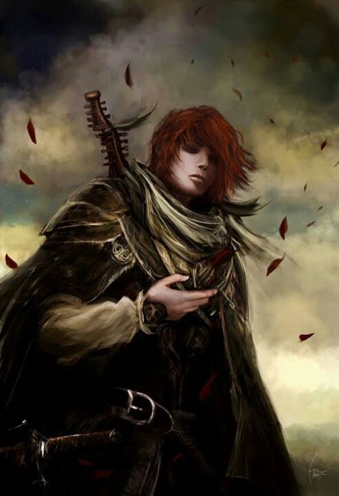"""Name of the wind. """"I have written songs that made the minstrels weep"""". Kvothe."""