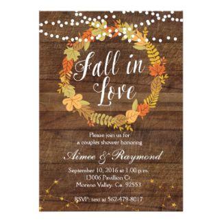 Fall bridal shower idea - fall rustic bridal shower invitation {Courtesy of Zazzle}