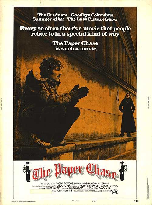 The Paper Chase (1973) Premiered 16 October 1973. Loved this movie
